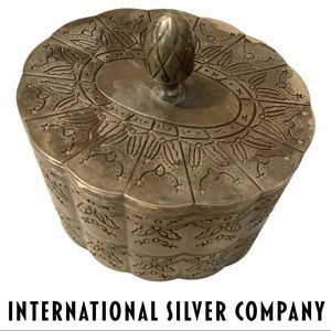 VTG International Silver Company Trinket Box